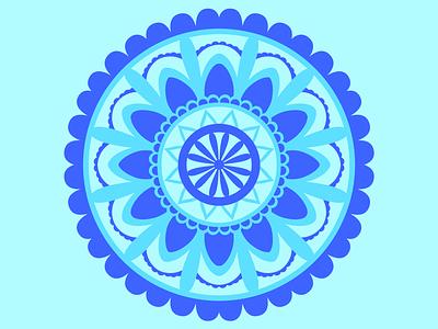 Blue Mandala adobe pattern design pattern illustrator design blue floral botanical illustrations flat mandala