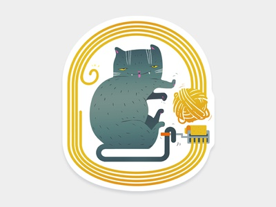 Gattasta Sticker