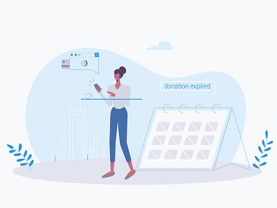 Smart Donations App blockchain mobile donation donation app character design explainer video application