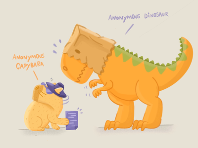 Sharing Google Docs procreate illustration capybara dinosaur character design google