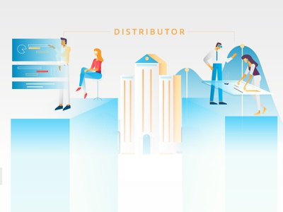 Financial advisors institution data client advisor financial bank explainer video illustration character design graphic design
