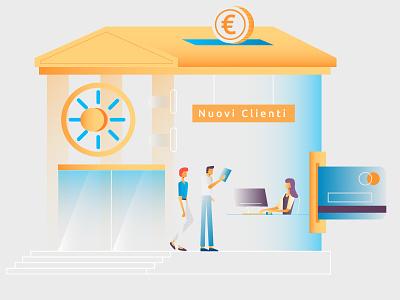 New Clients finances explainer video motion design graphic design illustration character design bank clients