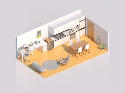 Home Office / Home Working 3d art cinema 4d