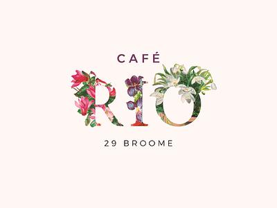 Cafe Rio Logo coffee cafe brazillian brazil rio logo logo design typography lettering restaurant logo bar logo rio logo