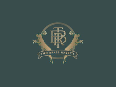 Two Brass Rabbits
