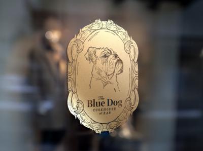 Blue Dog Restaurant Logo