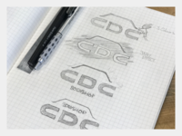 CDC Bodyshop Logo Sketch