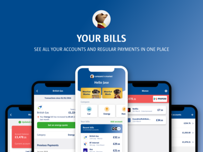 Compare the Market's new service, Your Bills