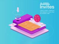 Invite the new dribbble