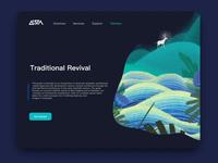 illustration webpage