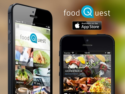 FoodQuest - Discover Food App foodquest app food tobia crivellari iphone app food app