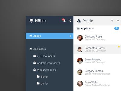 HRbox - UI Concept concept hr software ui app design tobia crivellari ui design design