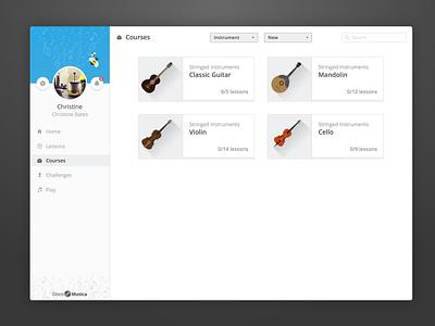 DiscoMusica - Free Web UI Kit web app material design sketch learning user interface design ui freebie tobia crivellari music