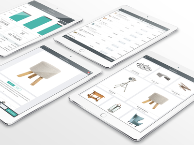 Bonagora iOS - POS user interface ui design design house home furniture home fashion b2b apple ios bonagora