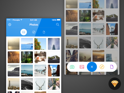 """Upload"" UI Kit - Freebies tobia crivellari iphone ui kit freebies apple ios"
