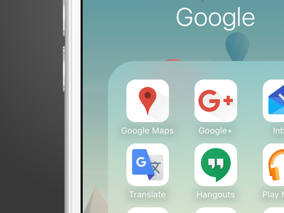 Google Maps & Google+ Concept App Icons icon apple ios google maps google