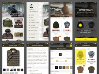 Filson app concept screens