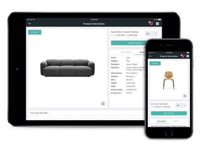 Bonagora POS for iOS - Product Information home décore ios shopping ui ui design design house home furniture home fashion b2b bonagora