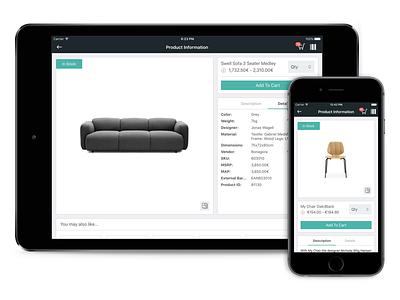 Bonagora POS for iOS - Product Information home décore ios shopping ui ui design design house home furniture home fashion b2b bonagora