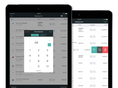 Bonagora POS for iOS - Shopping Cart
