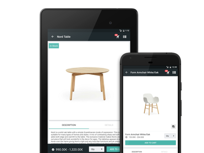 Bonagora POS for Android - Product Information home décore android shopping ui ui design design house home furniture home fashion b2b bonagora