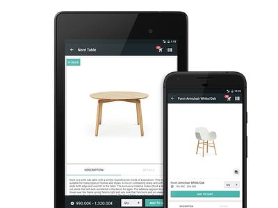 Bonagora POS for Android - Product Information home décore android shopping ui ui design design house home furniture home fashion b2b bonagora