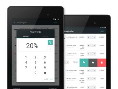 Bonagora POS for Android - Shopping Cart