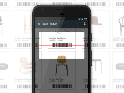 Bonagora POS for Android - Barcode Scanning home décore android shopping ui ui design design house home furniture home fashion b2b bonagora