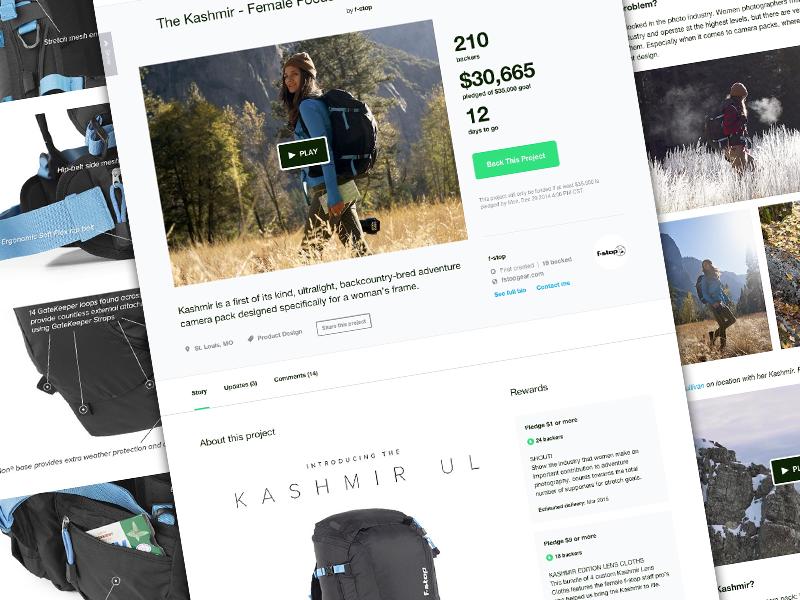 Designing on Kickstarter camera bag kickstarter fund crowd funding pack f-stop female photography photo backpack camera pack