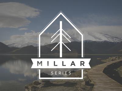 Millar Series Logo logo mark brand branding mountain tree heritage urban street photography camera icon