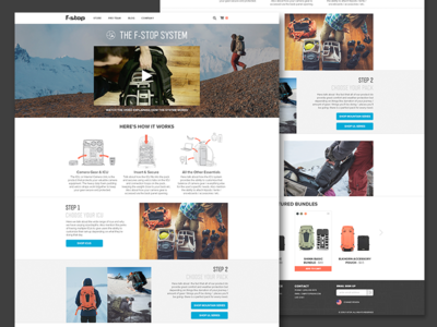 The f-stop system landing page