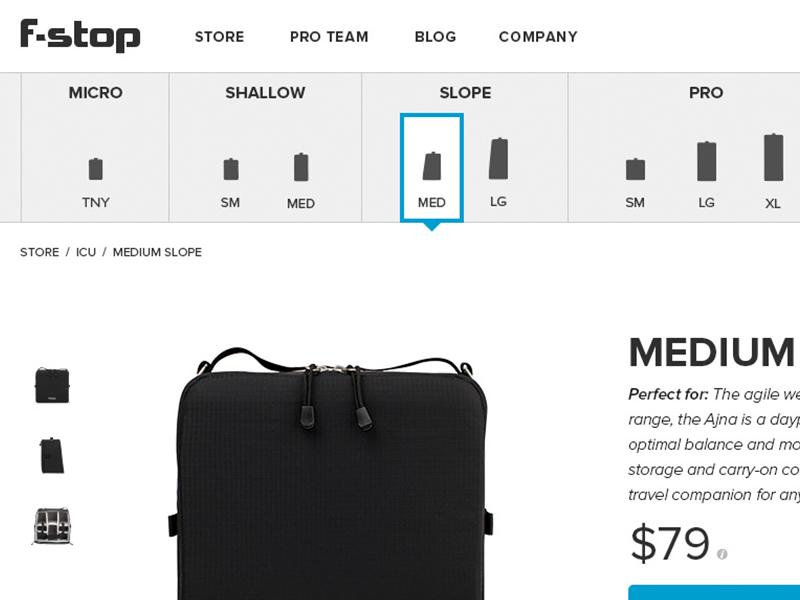 eCommerce UX size gray problem navigation web design interface ux ui web ecommerce