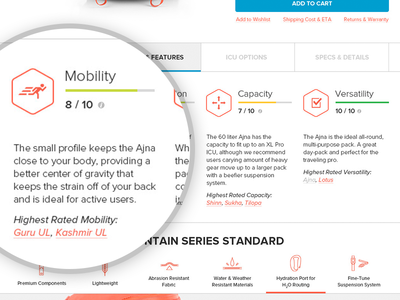 Product Page Stats icon information tabs stats stat product ui ux community web web design