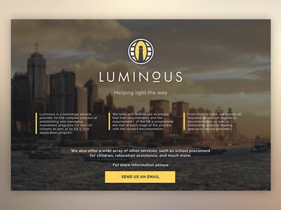 Luminous Splash Page