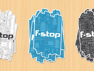 !!!  Stickers  !!! adventure swag illustrator pattern mockup organized gear photography camera blue vector sticker