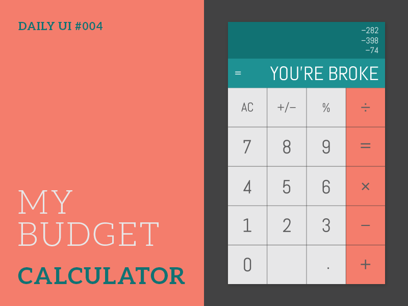 daily ui 004 calculator by chris doner dribbble dribbble
