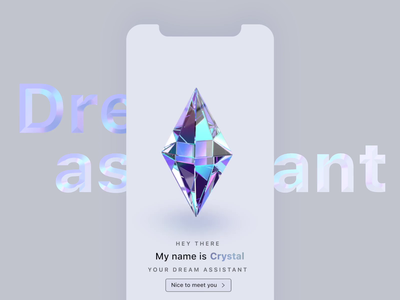 Dream Assistant - Artificial Intelligence Interface siri ios animated iridescent holographic crystal smooth video after effect ux ui animation artificial intelligence ai