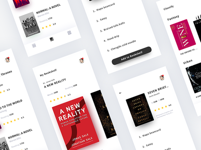 Story Book x3 design details ux ui list booking read book