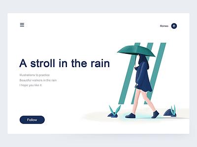 A Stroll In The Rain 1 illustration