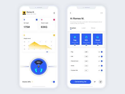 Intelligent Scale App Concept illustration design app ui healthy weight intelligence