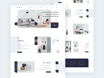 Interior Design Web Concept