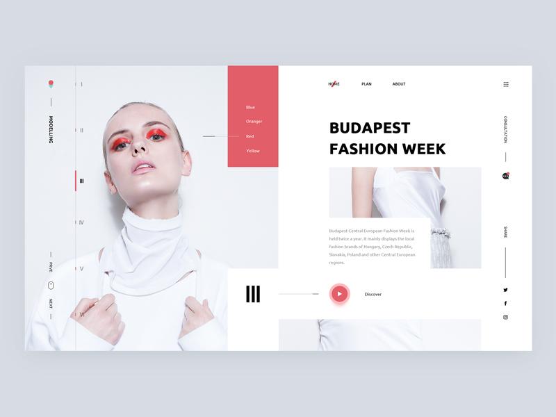 web design 01 - Modelling red format modelling ui website web