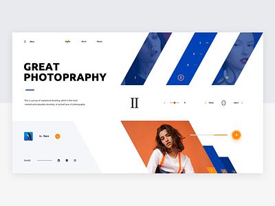 web design 03 - Photo Studio queble photo studio website ux web design ui