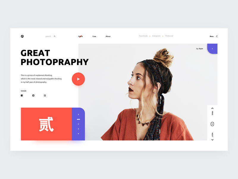 web design 04 - Photo Studio typography ux web design ui