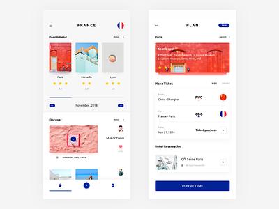 Travel plan plan travel design app ui