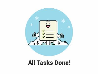 All Task Done illustraion web page design task list tasks