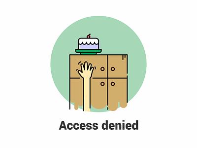 Access Denied web page design illustraion access denied permission
