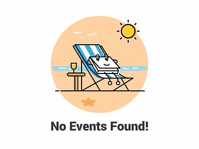 No Events Found! calendar web page design illustraion events event
