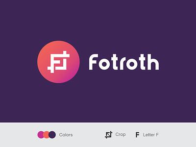 fotroth photography crop logo design logotype brand f logo branding