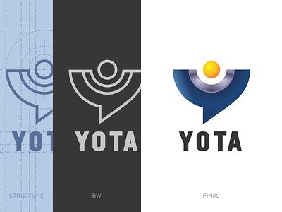 YOTA Logo branding logotype logo chat light sun conversation yota y y logo y letter y letter logo hinge joint door connections
